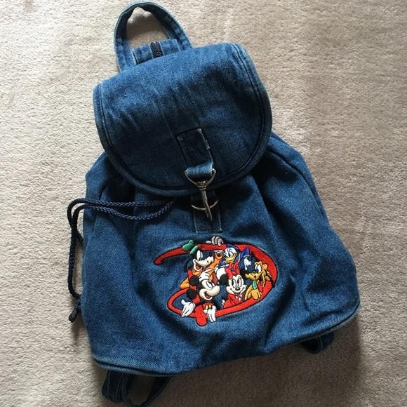 Disney Handbags - Vintage Denim Disney Mini Backpack!